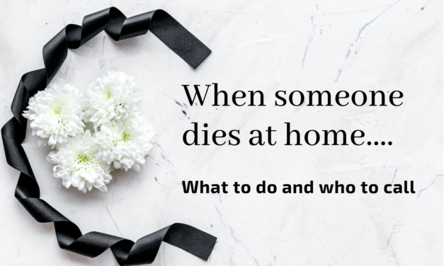 When someone dies at home – what to do and who to call?